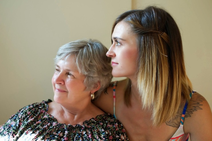 Older woman and young woman